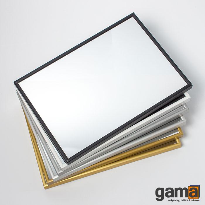 lustro w ramie aluminiowej